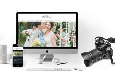 รับออกแบบเว็บไซต์Verywell Wedding
