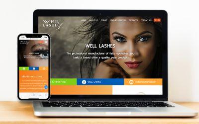 รับทำเว็บไซต์Welllashes โรงงานผลิตขนตาปลอม